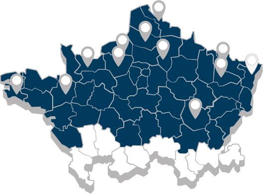 Carte des agences Groupe CIMME